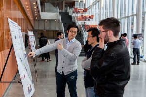 Penn Polymer researchers enjoy the opportunity to discuss new research.