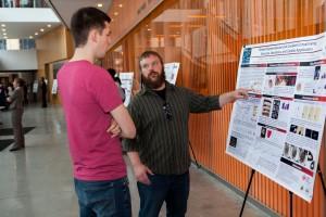 Penn Polymer researchers discuss cross-linking.
