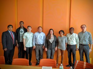 (Left to Right) Amit Sehgal, PhD, Tagbo Niepa, PhD, David Ring, Joey Ruiz, PhD, Natalie Gogotsi, Ganesh Sanganwar, PhD, Edward (Ted) Trigg