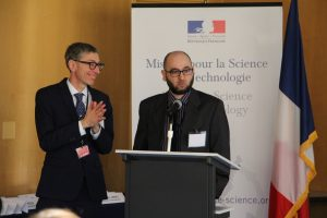 American and French REACT PIs share the stage (R. Composto, P. Rannou)