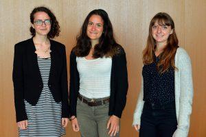 (left to right) Lauriane Gorce, Anne Guindet, Laurène Quénot