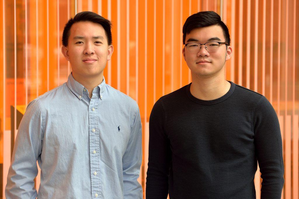 Drew Wang (left), Steven Cheng.