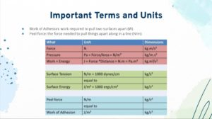 Important Terms and Units graphic
